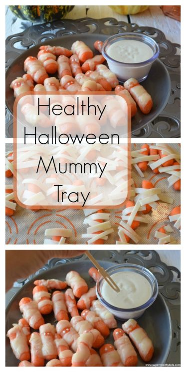 Healthy Halloween Mummy Tray