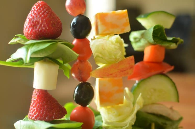 Salad Skewers. Salad is much more fun on a stick!