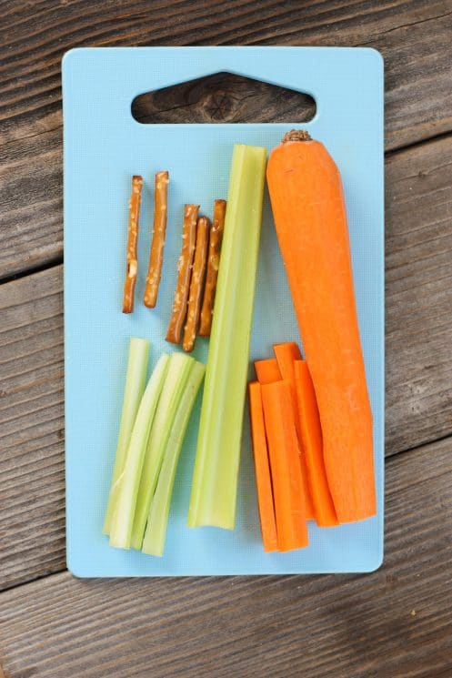 Frozen Party Veggie Tray. Veggie trays are always a great thing to bring to Holiday parties. The kids will go crazy over this one!