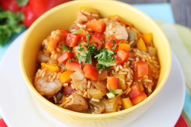 One-Pot Jambalaya Recipe for Kids. One reason we love Jambalaya- THE VEGGIES!!