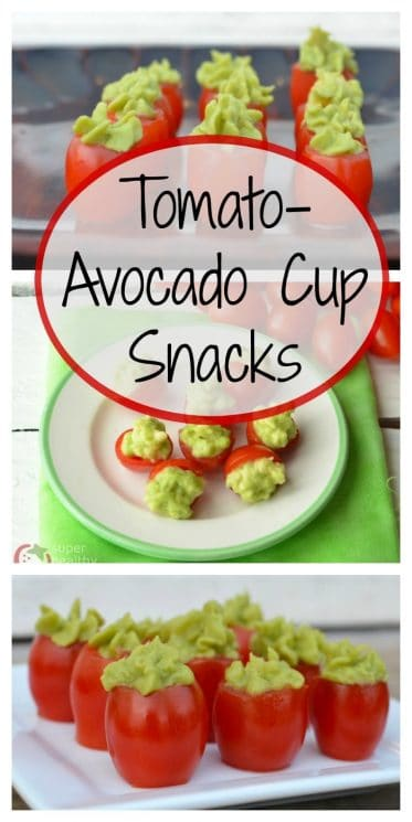 Tomato-Avocado Cup Snacks