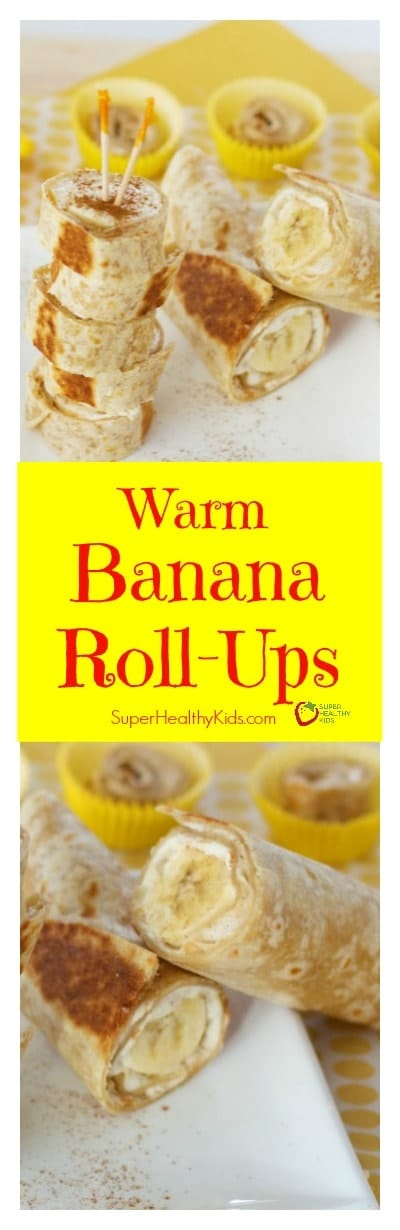 FOOD - Warm Banana Roll-Ups. Warm and crispy! These Banana Roll Ups have been super popular with our readers!