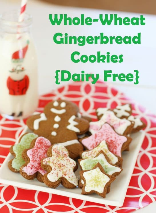 Whole Wheat Gingerbread Cookies {Dairy Free}. You won't be able to tell the difference!