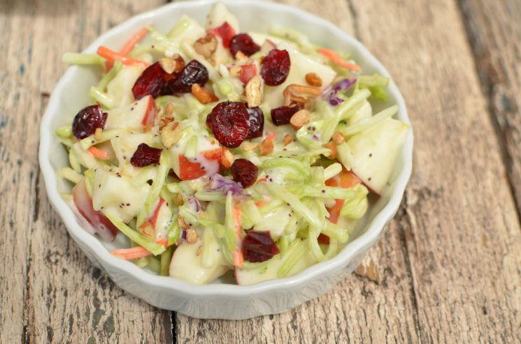Kids Favorite Broccoli Apple Salad Recipe. I always bring this salad to a potluck!