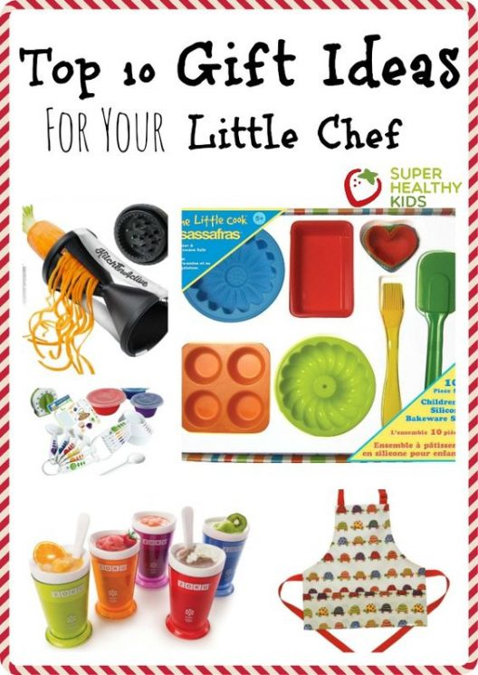 Top 10 Gift Ideas for Little Chefs. We have the top 10 gift ideas for kids from some of the top rated kids kitchen tools that your kids will love and will help get your kids in the kitchen with you! https://www.superhealthykids.com/top-10-gift-ideas-little-chef/