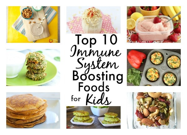 Top 10 Immune System Boosting Foods For Kids. Naturally boost their immune systems and keep your kids healthy all year long! https://www.superhealthykids.com/top-10-immune-system-boosting-foods-kids-ideas-recipes/