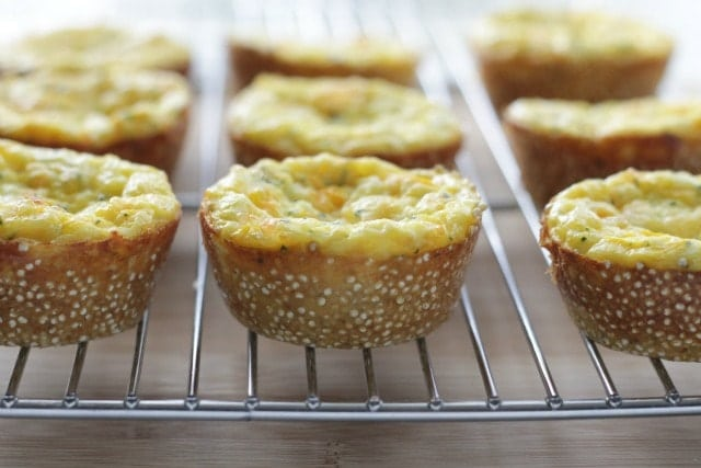 quinoa crusted egg muffins