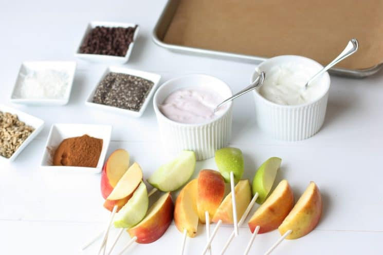 Apple Pop Snack. An after school snack that is full of fiber and nutrients!