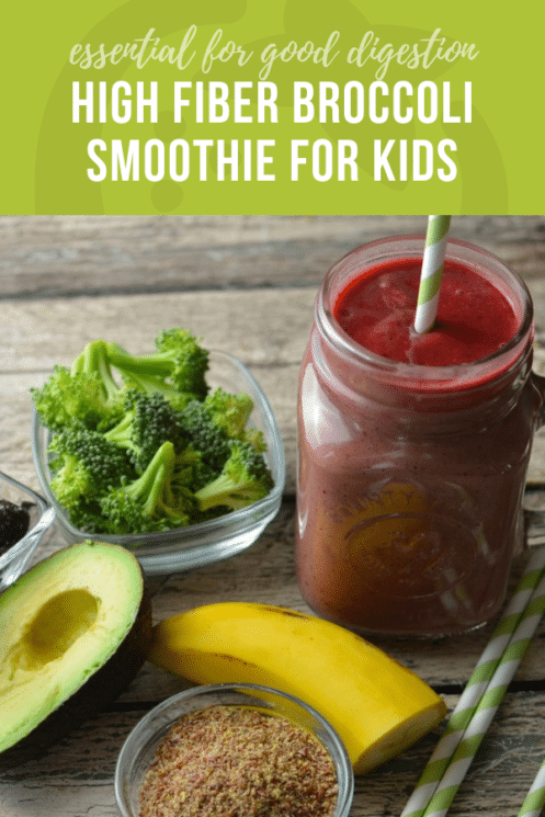 High Fiber Broccoli Smoothie for Kids | Healthy Ideas for Kids
