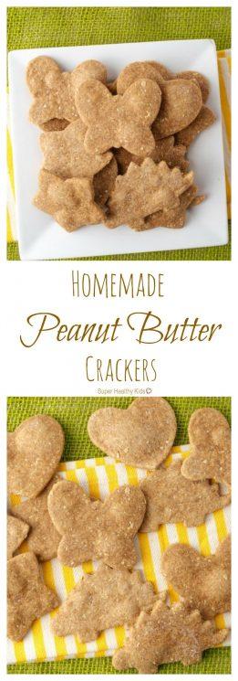 Homemade Peanut Butter Crackers. Crunchy snacking, anywhere! https://www.superhealthykids.com/homemade-peanut-butter-crackers/