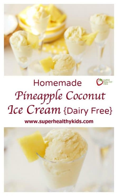 Homemade Pineapple Coconut Ice Cream