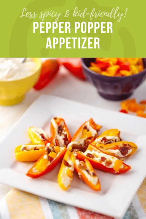 Less Spicy Pepper Popper Appetizer | Healthy Ideas for Kids