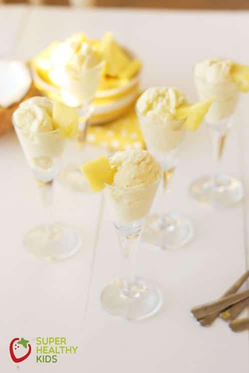Pineapple Coconut Ice Cream Dairy Free. The Best & Healthiest Dairy Free Ice Cream!