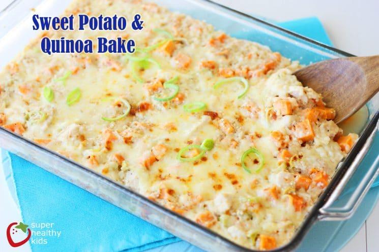 Sweet Potato Quinoa Bake. Sweet Potatoes + Quinoa Casserole. Comfort food for a cold night!