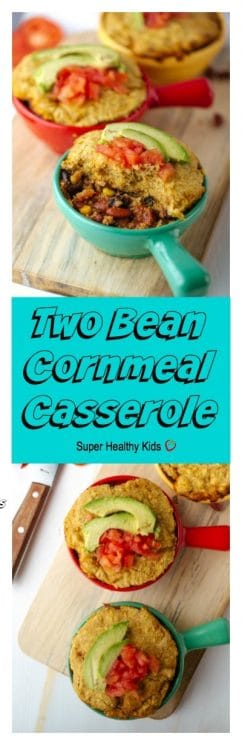Two Bean-Cornmeal Casserole. No time to shop? Turn your food storage into tonight's dinner!