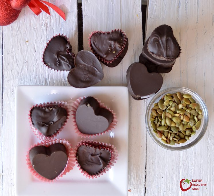 Chocolate Pumpkin Butter Cup. A delicious and nut free treat for your kids!
