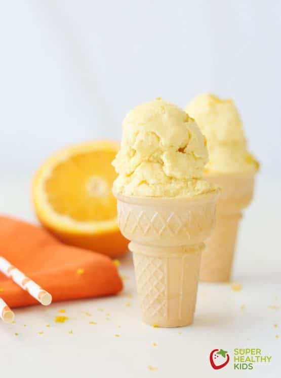 Homemade Orange Creamsicle Ice Cream. Refreshing and made with real fruit, try our orange creamsicle ice cream today!