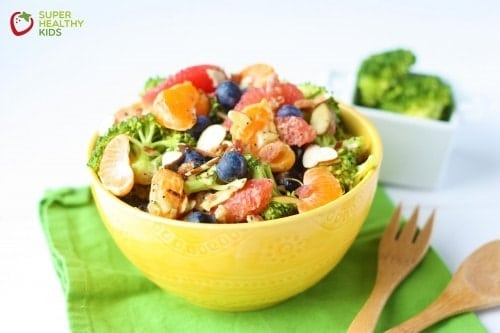 colorful salad high in fiber