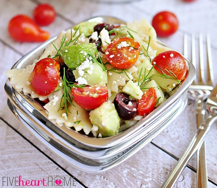 Tomato-Cucumber-Pasta-Salad-with-Avocados-Black-Olives-Feta-and-Dill-by-Five-Heart-Home_700pxScene