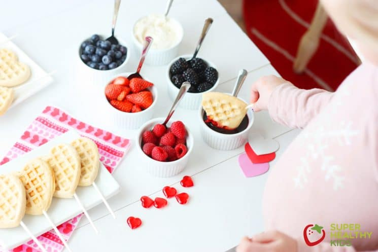 Valentines Waffle Bar for Kids. Go the extra mile to make today special for your little Valentines!