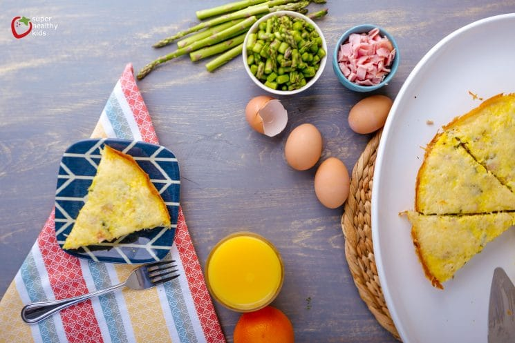 Breakfast Frittata with Asparagus. The perfect breakfast for a lazy Sunday morning!