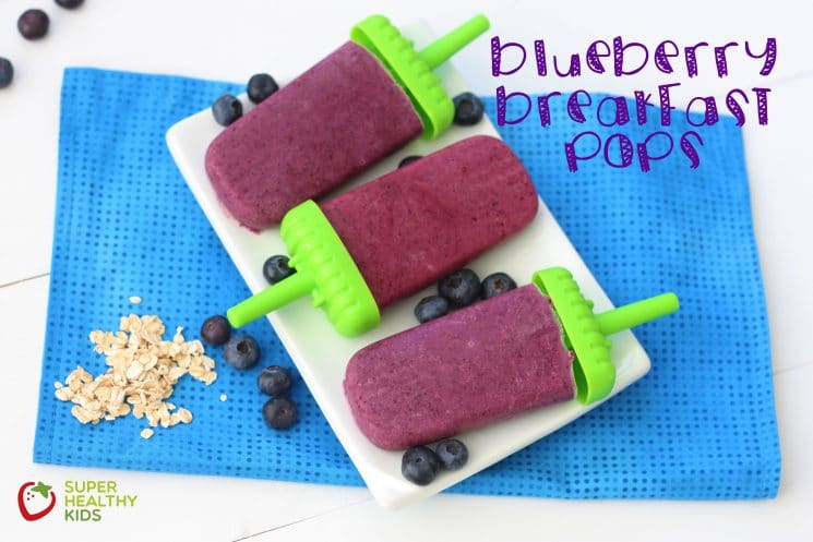 Delicious Blueberry Breakfast Pops!