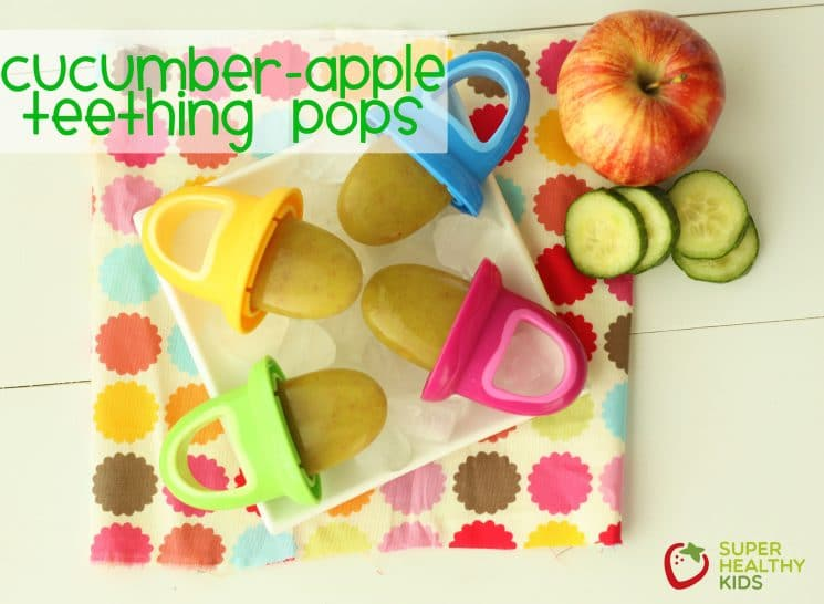 Refreshing Cucumber Apple Teething Pops!