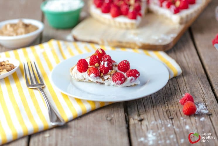 Raspberry Almond Tart. Have fun with this one! Use our crust recipe and then try any topping you like!