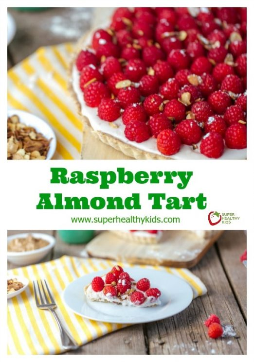 FOOD - Raspberry Almond Tart. Have fun with this one! Use our crust recipe and then try any topping you like! https://www.superhealthykids.com/raspberry-almond-tart/