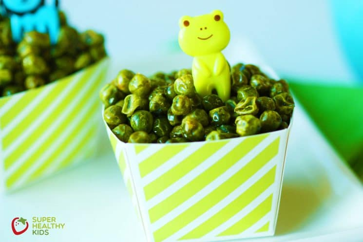 Crunchy Roasted Green Peas. Crunchy snack for toddlers!