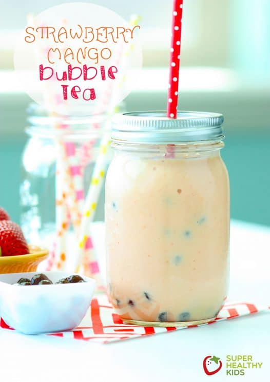 Strawberry Mango Bubble Tea. Bubble Tea! Have you tried this yet?