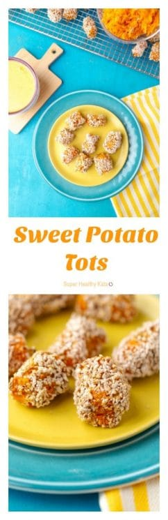 Sweet Potato Tots. More vitamins than tater tots! https://www.superhealthykids.com/sweet-potato-tots/