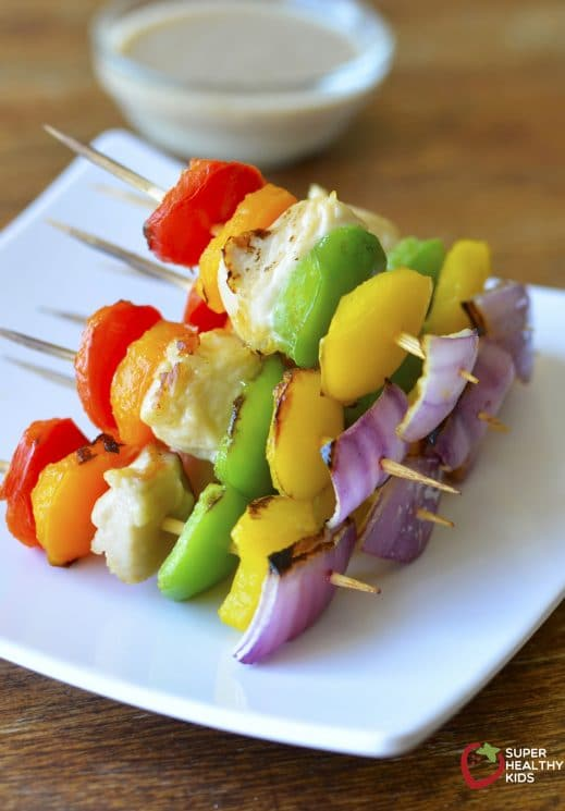 Chicken Kabobs with Asian Dipping Sauce. My kids just love these chicken kabobs. With the dipping sauce, it's even better.
