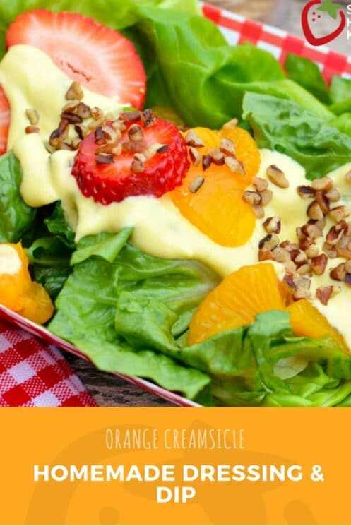 Orange Creamsicle Homemade Dressing & Dip