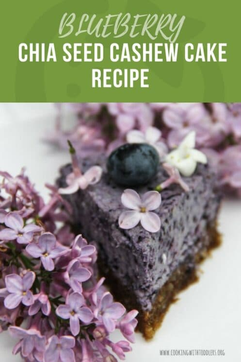 BLUEBERRY chia seed and cashew cake recipe