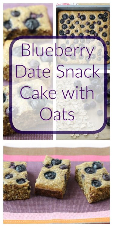 Blueberry Date Snack Cake with Oats