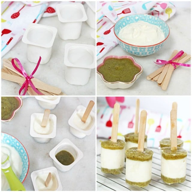Frozen Yogurt Kiwi Pops. A delicious and healthy treat for kids this summer   Super Healthy Kids