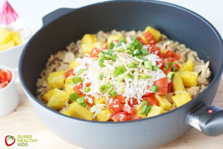 Healthy Hawaiian Haystack Skillet. Our healthy and super fast version of a classic meal the entire family will love!