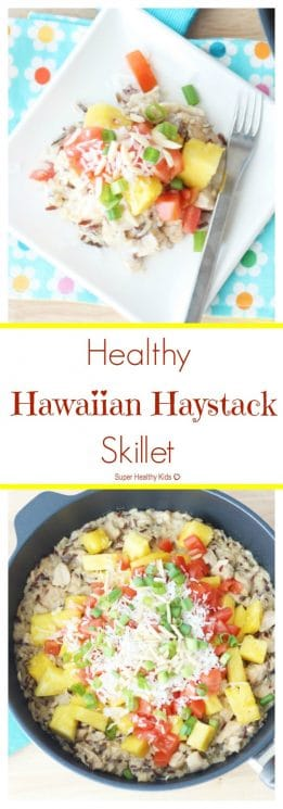 FOOD - Healthy Hawaiian Haystack Skillet. Our healthy and super fast version of a classic meal the entire family will love! https://www.superhealthykids.com/healthy-hawaiian-haystack-skillet/