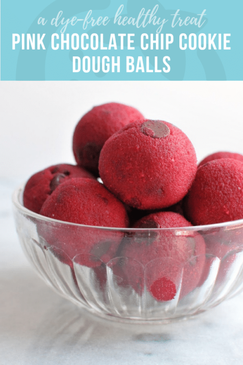 Naturally Pink Chocolate Chip Cookie Dough Balls | Healthy Ideas and Recipes for Kids
