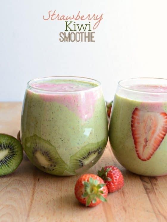Strawberry Kiwi Smoothie Recipe. Strawberry Kiwi Smoothie quick, easy, and healthy!
