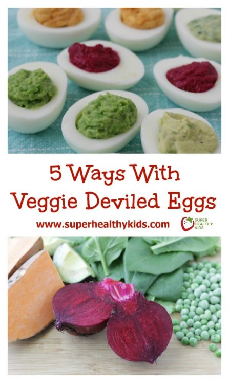 5 Ways with Veggie Deviled Eggs. These colorful deviled eggs actually have veggies! Check out how we did it here: