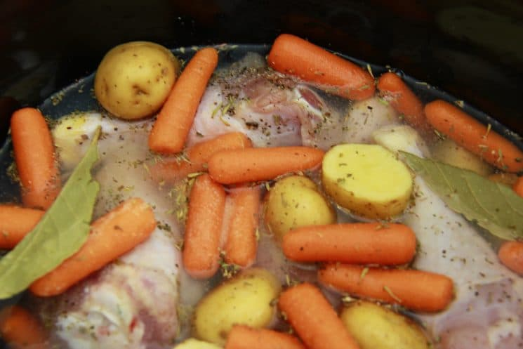 Rainy Day Stewed Chicken and Veggies. You're only 4 steps away from this recipe that will brighten any rainy day!