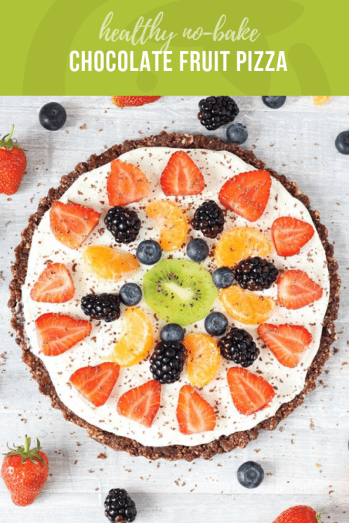 Healthy No Bake Chocolate Fruit Pizza | Healthy Ideas and Recipes for Kids