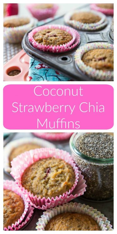 Coconut Strawberry Chia Muffins