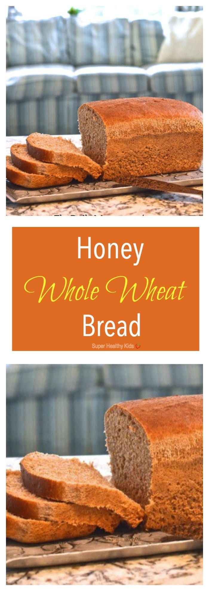 Honey Whole Wheat Bread. This simple recipe contains just 6 ingredients and requires a mere 10 minutes of hands-on time. http://www.superhealthykids.com/honey-whole-wheat-bread/
