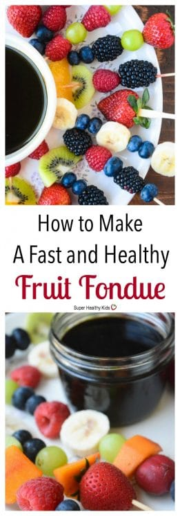 FOOD - How to Make a Fast and Healthy Fruit Fondue. Healthy Fondue?! You won't want to miss out on this recipe. https://www.superhealthykids.com/make-fast-healthy-fruit-fondue/