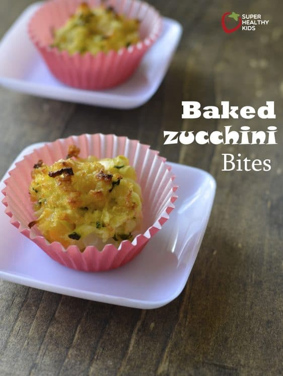 Baked Zucchini Bite Recipe. How to turn zucchini into a cheesy snack for your kids!