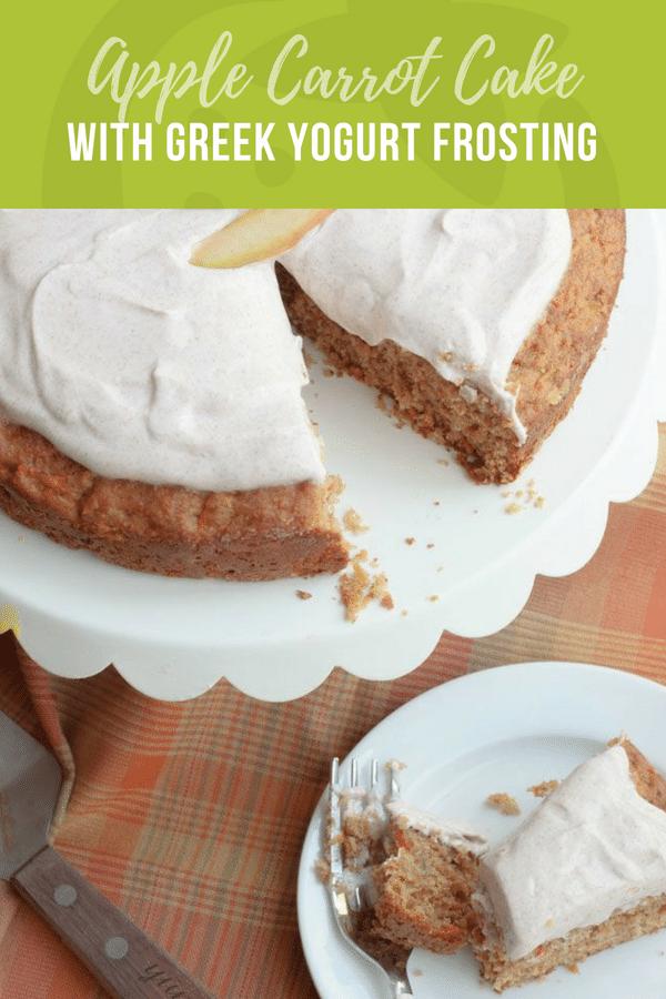 Apple Carrot Cake with Cinnamon Greek Yogurt Frosting