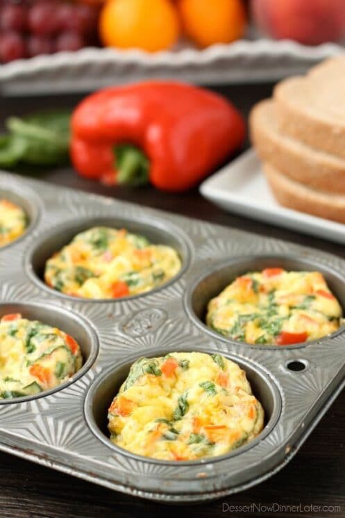 Breakfast Egg Cups -- easy to make and loaded with veggies, perfect for kids!